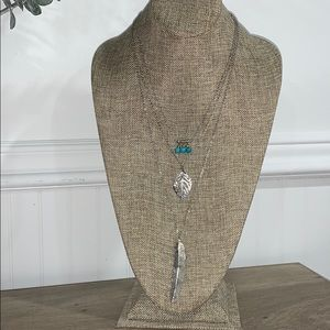 Jewelry - Layered feather necklace